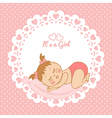 Greeting card with birthday girl vector image vector image