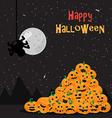 Halloween poster background vector image