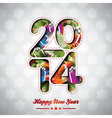 Happy New Year 2014 colorful background vector image