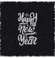 Happy new year 2017 chalk lettering text vector image