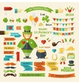 Happy St Patricks Day set vector image vector image