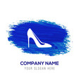 high-heels icon - blue watercolor background vector image