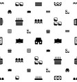 home icons pattern seamless white background vector image vector image