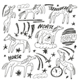 Horses - doodles set vector image vector image