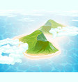 island in ocean aerial view vector image