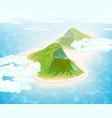 island in ocean aerial view vector image vector image