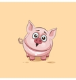 isolated Emoji character cartoon Pig surprised vector image vector image