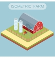 Isometric farm banner vector image