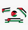 jordanian flag stickers and labels vector image vector image