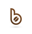 Letter B coffee logo icon design template elements vector image vector image