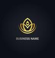 lotus flower beauty yoga gold logo vector image vector image