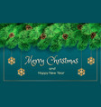 merry christmas banner realistic style vector image