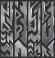 metal geometric seamless pattern vector image vector image