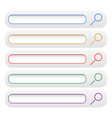 minimal search bars search button vector image vector image
