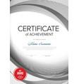 modern certificate vertical template vector image