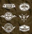 motorcycle vintage labels set emblems vector image vector image