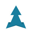 old style arrow icon in flat style vector image vector image