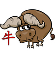 ox chinese zodiac horoscope sign vector image vector image