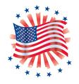 patriotic circle vector image vector image