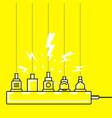 plug in full power outlet overload charger vector image vector image