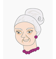 portrait of an old lady vector image