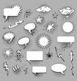 retro oval and rectangle bam speech bubbles vector image