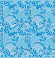retro wild flower pattern in many kind of vector image vector image