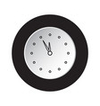 round black white button icon - last minute clock vector image