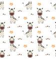 seamless pattern with cute zebra baanimals vector image vector image