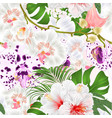 seamless texture branch orchids vector image vector image
