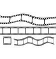 set of film strip vector image