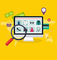 Set of flat design concept online shopping and vector image