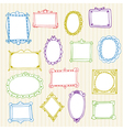 Set of hand drawn frames Hand drawn design vector image vector image