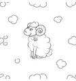 sheep fly in the sky vector image vector image