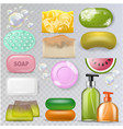 soap hygiene soft-soap and bath soaper with vector image