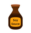 soy sauce condiment cartoon flat style vector image vector image