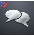 Speech bubble icon symbol 3D style Trendy modern vector image