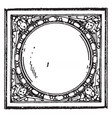 stove-tile frame 17th century vintage vector image vector image