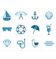 Summer sea icons vector image vector image