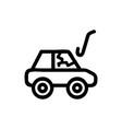 thief car icon isolated contour symbol vector image vector image
