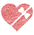 tied love heart fabric textured icon vector image vector image
