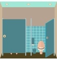 Toilet interior Lavatory in vector image