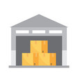 warehouse icon transportation and delivery vector image vector image