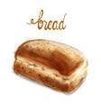 watercolor bread vintage homemade bakery