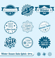 Winter Sale Labels vector image