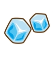 cartoon ice cubes frozen water vector image