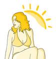 girl sun vector image