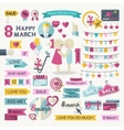 Happy Women Day set vector image