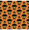Seamless halloween house backgrounds vector image