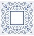 vintage linear frame vector image